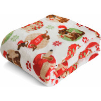 "Walmart: Mainstays Holiday 50"" x 60"" Microplush Throw, Christmas Pups"