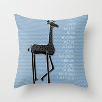I Am Me Throw Pillow by Beth Thompson | Society6