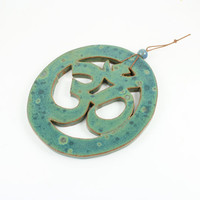 Handmade Ceramic Ohm Wall Hanging - Unique Wall Art