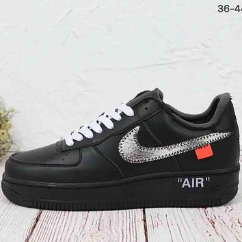 NIKE AIR FORCE 1 & OFF-WHITE Co-brand Casual Sports Shoes F-MLDWX