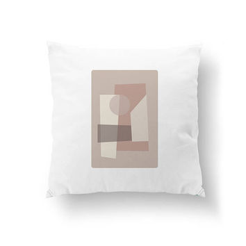 Pink Pastel Pillow, Abstract Pattern, Cushion Cover, Textured Art, Throw Pillow, Simple Art, Decorative Pillow, Home Decor, Geometric Shapes
