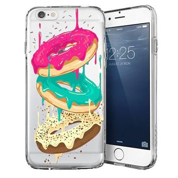 Funny transparent Phone Case, Transparent Case, Clear Case, iPhone 7 case, Donut phone case, iPhone 6 case, iPhone 5 case, iPhone SE case