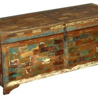 Tyndall Reclaimed Wood Trunks Storage Chest - Rustic - Decorative Trunks - by Sierra Living Concepts