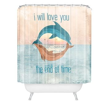 Belle13 Until The End Of Time Shower Curtain