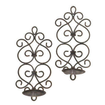 Scrollwork Wall Sconce Set