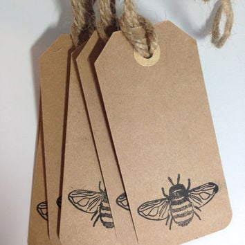 Simply Bumble Bee Kraft Gift tags, Queen Bee Gift Tags, Baby Shower Party favor tags, Just Simply handmade