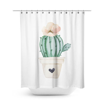 Brand New Day Solo Cactus Shower Curtain