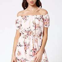 Element Degrees Floral Print Off-The-Shoulder Dress at PacSun.com