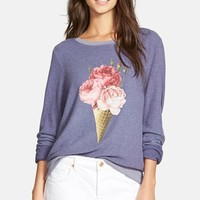 Women's Wildfox 'Baggy Beach Jumper - Floral Cone' Pullover,