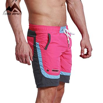 Desmiit Fashion Summer Sexy Beach Men's Shorts Leisure Sea Men Board Shorts Patchwork Fast Dry Elastic Waist Shorts DT63