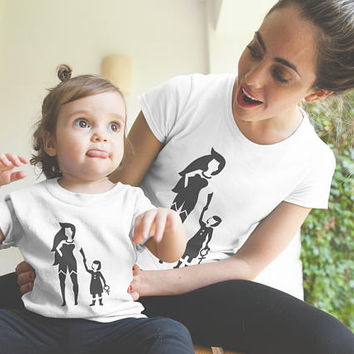 Wonder Mama and Daughter T-Shirt