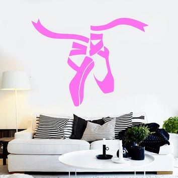 Vinyl Wall Decal Ballet Dance Studio Shoes Stickers Mural Unique Gift (ig4136)