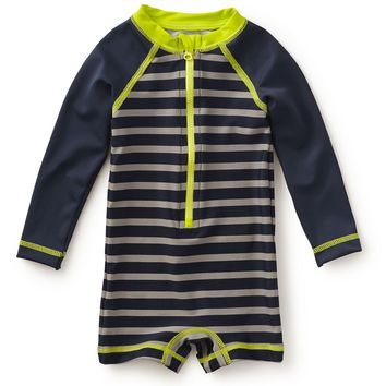 Tea Collection 'Fontana' One-Piece Rashguard Swimsuit (Baby Boys) | Nordstrom