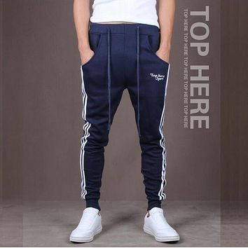 New Pants Men New Fashion: Casual Skinny Mens Track Pants Skinny Harem Sweatpants Tracksuit Bottoms Pants Trousers