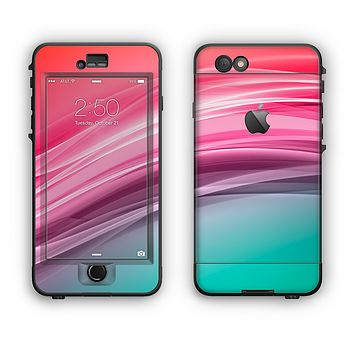 The Red to Green Electric Wave Apple iPhone 6 Plus LifeProof Nuud Case Skin Set