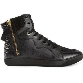 Moncler Y shearling panel hi-top sneakers