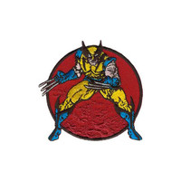 Wolverine Standing Embroidered Iron-On Patch