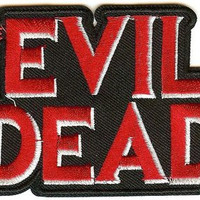 The Evil Dead Iron-On Patch Red Letters Logo