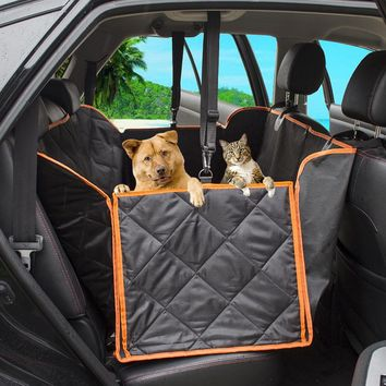 3 Colors Nonslip Dog Car Seat Cover Pet Mat Blanket Hammock Cushion Protector Travel Foldable Pet Carriers for Car Truck SUV