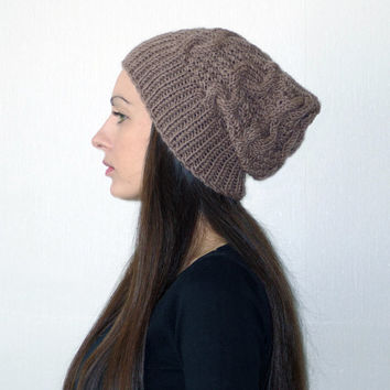 Slouchy beanie, slouch hats, chunky knit hat, women knit hat, slouchy beanie hat, womens slouch hat, women chunky knit hat