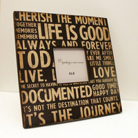 12x12 Photo Frame Memory Life is Good by JunebugsCC on Etsy