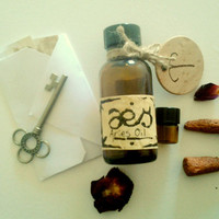 Aries Oil: Blood Orange, Spice, Rosemary, Rose, One Full Ounce Natural Perfumed Oil Inspired by the Planetary, Elemental, Herb Lore of Aries