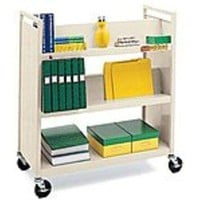 Bretford VF336 Combo Utility Shelf Book Truck - 5 Shelf - Putty Beige