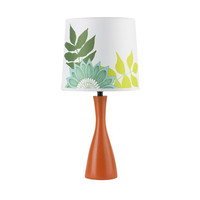 Oscar Boudoir Lamp with Printed Silk Shade design by Lights Up!