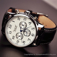 Man Steampunk Mechanical Watch (WAT0104-WHITE)