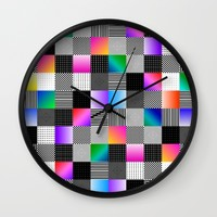Mondrian Couture Wall Clock by Dood_L