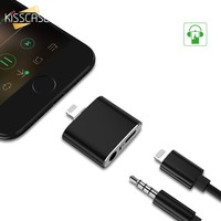 KISSCASE Data Charger Adapter for iPhone 7 7 Plus Audio Adapter 2 in 1 iOS 10.3 Splitter Jack AUX Headphone Charging Connector