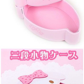 Cute wristlet ☆ Sanrio my melody face a two-stage Interior series ★ kuroneko DM flights possible