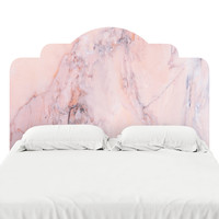 Blush Marble Headboard Decal