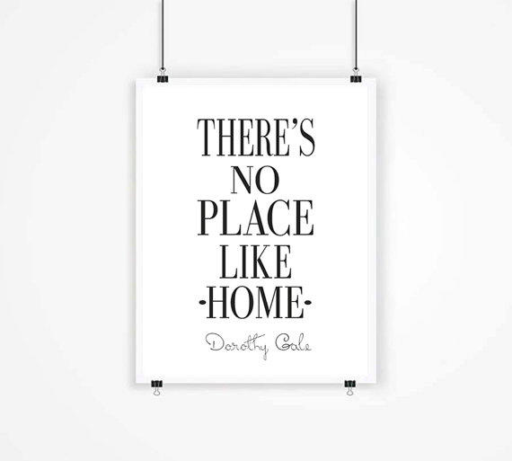 there s no place like home wizard from mixarthouse on etsy