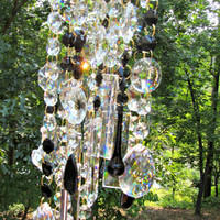 On Sale Asfour Crystal Wind Chime Sun Catcher, Garden Décor, Glass wind Chime, Gift for Her, Crystal Gift, Lead Crystal, House Warming Gift,