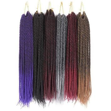 ESB1ON TOMO  Products 7 Packs 20' Ombre Kanekalon Fiber Synthetic Crotchet Braid Hair Weave 20 Strands Senegalese Twist Crohcet Hair