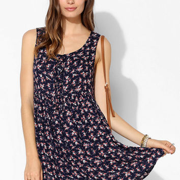 Band Of Gypsies Lace-Up Babydoll Tank Dress - Urban Outfitters