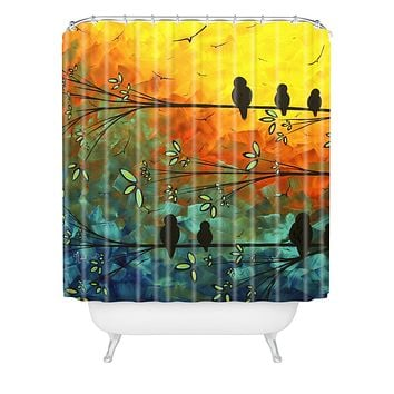 Madart Inc. Birds Of A Feather Shower Curtain