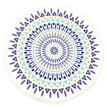 Doily Pattern Round Beach Towel Mat General Merchandise 186