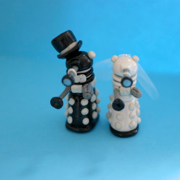 Wedding Dalek Cake Toppers  (made to order)