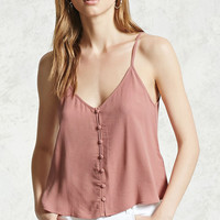 Button-Down V-Neck Cami