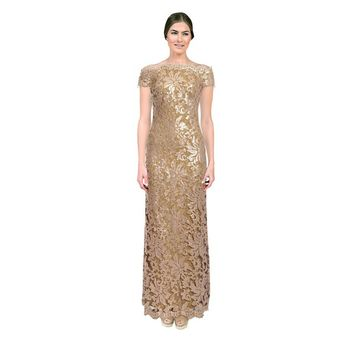 Tadashi Shoji Women's Ginseng Floral Lace Evening Gown | Overstock.com Shopping - The Best Deals on Evening & Formal Dresses