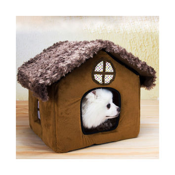 Fall Winter Teddy kennel pet kennel washable cottages Pomeranian Bichon small dog kennel dog house    cottages
