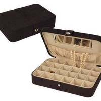 Amazon.com: Mele Rene Black Suede Jewelry Box 545-62M: Home & Kitchen