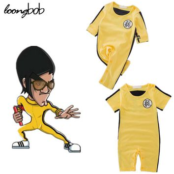 Bruce Lee Kungfu Baby Boy Romper Baby Clothing Funny Baby Clothes Cute Costumes for Newborn Cosplay Party Halloween Wearing