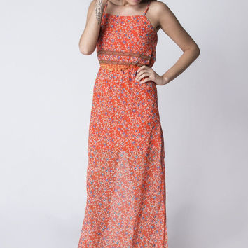 Floral Layered Maxi Dress