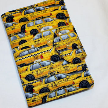 NYC Taxi Cab New York City E-Reader Cover Kindle , Nook Cover, Kobo Cover, Kindle Fire Cover, Kindle Touch Cover Made to Order