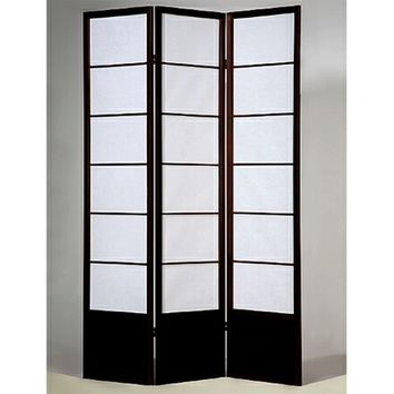 3 panel room divider screen with solid wood frame comes in Espresso