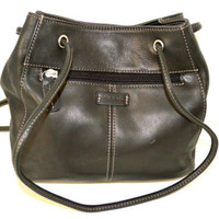 Fossil Small black leather handbag Purse