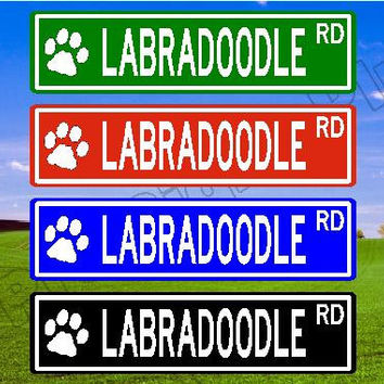 LABRADOODLE Street Sign, LABRADOODLE Gift, LABRADOODLE Decor, Custom Street Sign, Quality Metal Sign, Aluminum Sign, Personalized Dog Sign